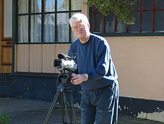Ross Thorne with video camera 2005